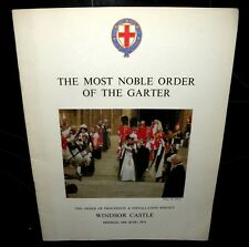 The Most Noble Order Of The Garter, Windsor Castle 19th June 1972,