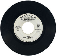 """BENNY GORDON & THE SOUL BROTHERS  """"(GET IT) COME AND GET IT""""   DEMO  LISTEN!"""