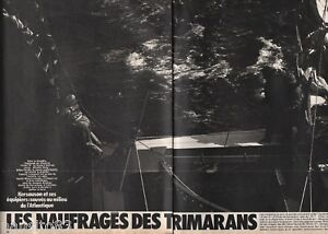 Coupure de presse Clipping 1979 Kersauson les naufragés de trimarans  (8 pages)