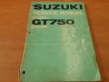 Genuine OEM Suzuki 1972 GT750 Engine Service Manual SR-3100