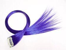 5x Haarverlängerung Clip in Extensions Haarsträhne Strähne Highlights Blau PU1