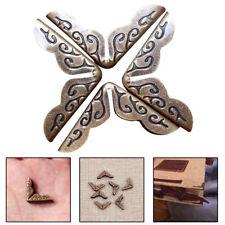 10pcs Bronze Protection Protège Coins Livre Bijoux Corner Scrapbooking Albums NF
