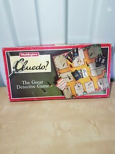 VINTAGE 1990 WADDINGTONS CLUEDO THE GREAT DETECTIVE BOARD GAME. Complete
