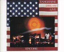 CD TANGERINE DREAMencore - liveHOLLAND EX+ (A5381)