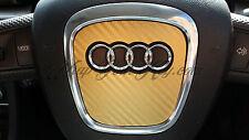 Gold carbone airbag volant wrap s rs A1 A3 A4 A5 A6 A8 tt Q3 Q5 Q7
