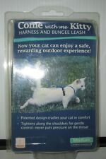 COME WITH ME KITTY HARNESS AND BUNGEE LEASH BLUE MEDIUM NEW NEVER USED