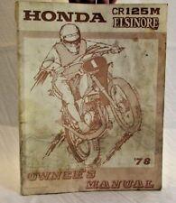 Honda CR125M Elsinore Owners Manual - 1978