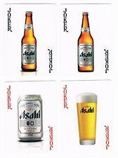4 x Different Single Brewery Beer Playing Cards Speelkaarten Asahi Jokers