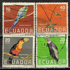 Ecuador Tropical Fauna Birds stamps 1960