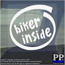 1 X Biker all'interno-Finestra, Auto, Furgone, STICKER, SEGNO, veicolo, Adesivo, Moto, RUOTA