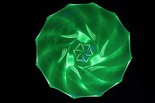 Art Deco Uranium Glass 'Lutzow' Bowl by Walther