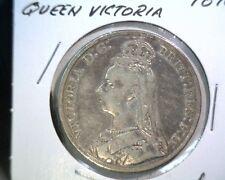 1890 Great Britain Silver Crown Coin KM#765 Victoria .8409  ASW