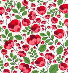 100% Cotton Poplin Fabric Rose & Hubble Red Poppy Poppies Remembrance Day