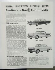 1958 Ford Edsel Compared To Pontiac By Green Line Extra Sales Brochure