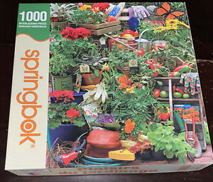 Springbok Garden Delights 1000 Piece Jigsaw Puzzle Plants Flowers Tomato Pots