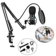 Kondensator Microphone PC Mikrofon Kit Komplett Set fürStudio Aufnah Mikrofonarm