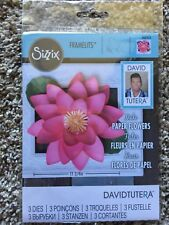 Sizzix Framelits Dies Large Lotus 3 Dies 562413 By David Tutera New