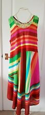 Summer Dress ~ Multi-Colours ~ Long ~ Size Large