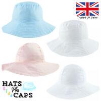 Babies Sun Hat Wide Floppy Brim Boy Girl Toddler Childs Kids Summer Bucket UV
