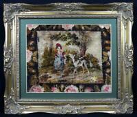 Antique Georgian Embroidery c1790s Rare Pictorial Piece