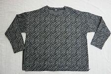 DAVID JONES grey black tiger print long sleeve top size XL NWOT
