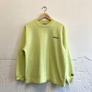Vintage Reebok Mens Jumper/sweatshirt size 12 lime green sportswear