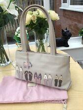Radley 'Flip Flop' Soft Cream Leather Medium Shoulder Bag - Appliqué Detail
