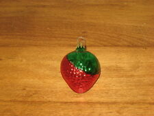 Old World Glass Strawberry Ornament