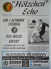 Programm 1996/97 Lok Altmark Stendal - RW Erfurt