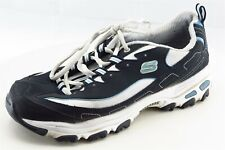 Skechers Sport Size 8 M Blue Lace Up Running Leather Shoes
