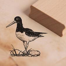 Stempel Holzstempel AUSTERNFISCHER Vogel Motivstempel Abdruck 48x46mm ❤