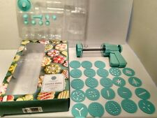Martha Stewart Collection Light Blue Cookie Press Pastry Discs and Nozzles