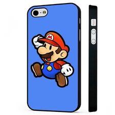 Retro Super Mario Nintendo juego negro funda de teléfono tapa se ajusta iPHONE