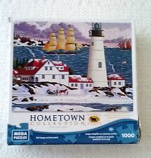Mega Puzzle Hometown Collection  Portland Head Light 1000 Pieces-Complete