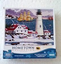 Mega Puzzle Hometown Collection  Portland Head Light 1000 Pieces-Complete