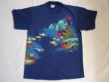 Vtg Harlequin Aquatic T Shirt Ocean Fish Turtle Dory L Nemo Sea Snorkel Tanked
