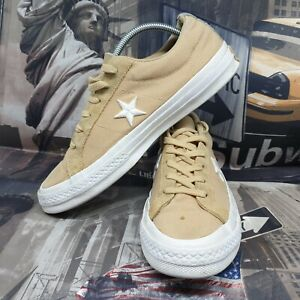 Converse mens one star trainers size 7 cream shoes sneakers  all star chuck 40