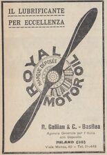 Z2685 Royal Motor Oil il lubrificante per eccellenza - Pubblicità - 1923 old ad