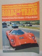 Road & Track December 1974 McLaren M6GT Porsche Fiat 124 Coupe 1800 Alfa Romeo