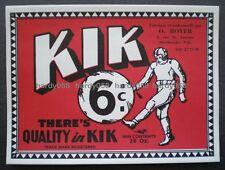 ORIGINAL KIK Paper Label 6¢ - O. Royer Sherbrooke Quebec Canada