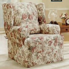 Sure Fit Chloe floral roses Wing Chair Slipcover homestyle washable NEW