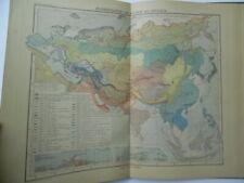 1887 Atlas der Pflanzenverbreitung Oscar Drude World Botany Atlas Antique Maps