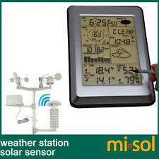 Professional Wireless Weather Station Touch Panel w/ Solar sensor, w/ PC