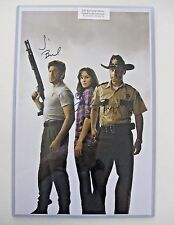 Walking Dead poster SIGNED by Andrew Lincoln and cast members! COA included.