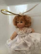 DG Creations Porcelain Blond Doll Ornaments Hand Pinted Eurpean Style NIB
