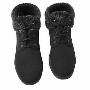 Propet Madi Ankle Lace Women's Boots, Black, Size 8 Narrow
