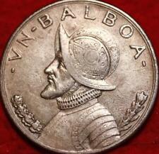 1931 Panama 1 Balboa Silver Foreign Coin