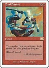 FINAL FORTUNE Sixth Edition MTG Red Instant RARE