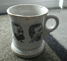 """Unique Vintage Shaving Mug with 5 Different Bearded Men on Side 4"""" Tall"""