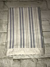 Vintage Ralph Lauren Blue Stripe White Cotton One (1) King Pillowcase Italy